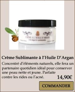 Crème huile argan